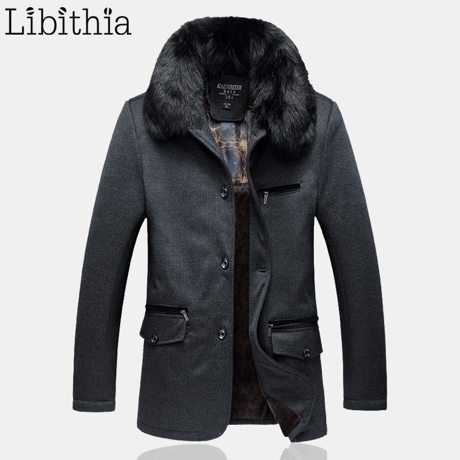 Здесь можно купить  Men Casual Thick Buttons Parka Big Size XL-5XL Loose Winter Coats With Detachable Fur Collar Zipper Fleece Jacket Men Grey K263 Men Casual Thick Buttons Parka Big Size XL-5XL Loose Winter Coats With Detachable Fur Collar Zipper Fleece Jacket Men Grey K263 Одежда и аксессуары