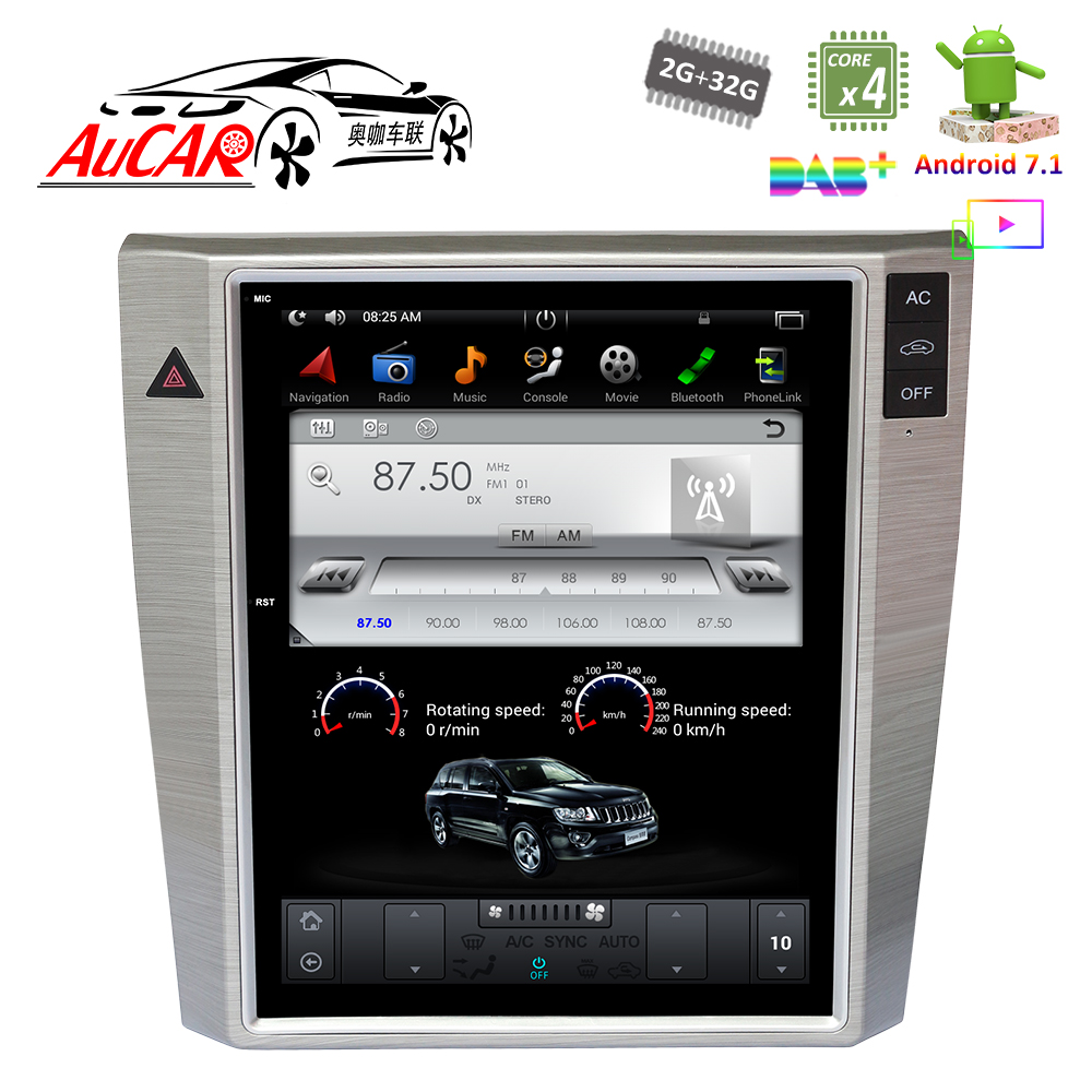 Android 7.1 Style Tesla 10.4 «Naviguer pour VW Magotan CC GPS Système Audio 2012-Radio Bluetooth WIFI 4g Vertical Stéréo IPS