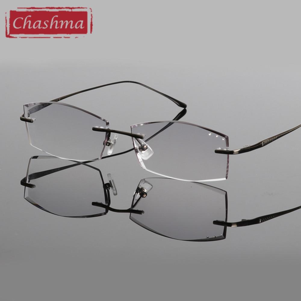 Chashma Blagovne znamke Titanium Modna moška očala Diamant obrezana - Oblačilni dodatki - Fotografija 2