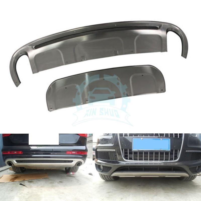 Silver Front Rear Bumper Board Guard Skid Plate Fit For