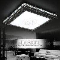 Chaud et creative led salon chambre principale lumière chambre étude lumière à manger carré cristal plafond lampe LO81817