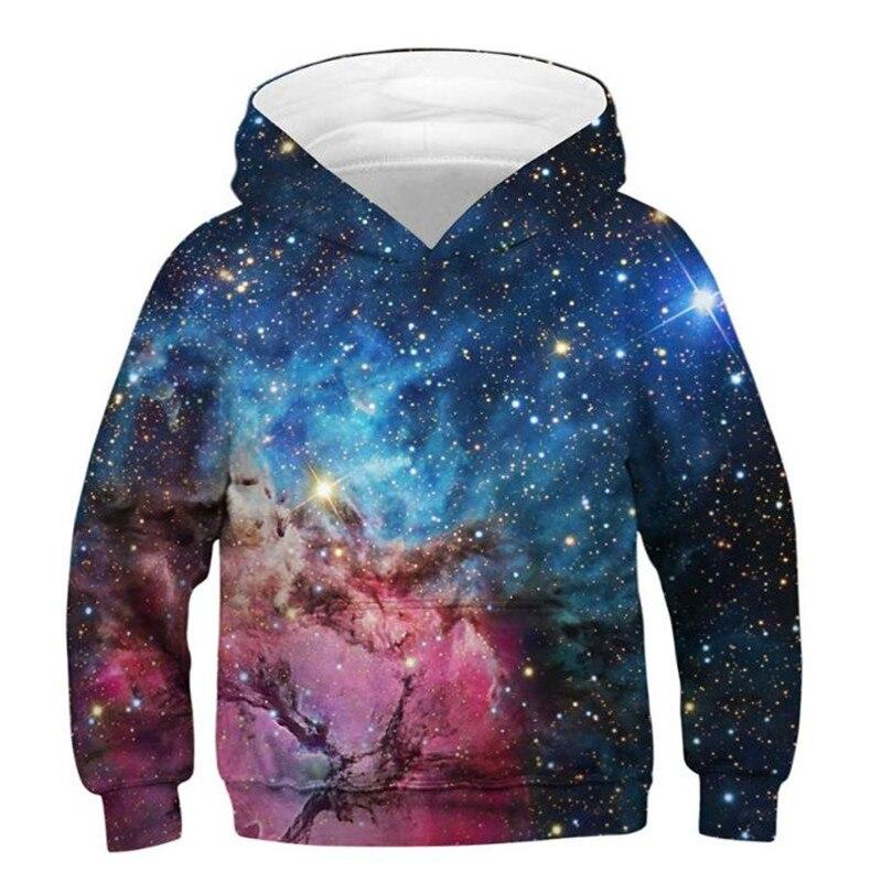 Starry Sky Cosplay Costume Hoodies Sweatshirts Mlb Tops Anime 3D Digital Printing Christmas Party Halloween Costume For Kids