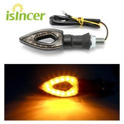 2pcs/lot Black Shell Motorcycle Moto Bulb 12 LED Turn Signal Indicator Amber Lights Lamp for Honda for Yamaha for Suzuki