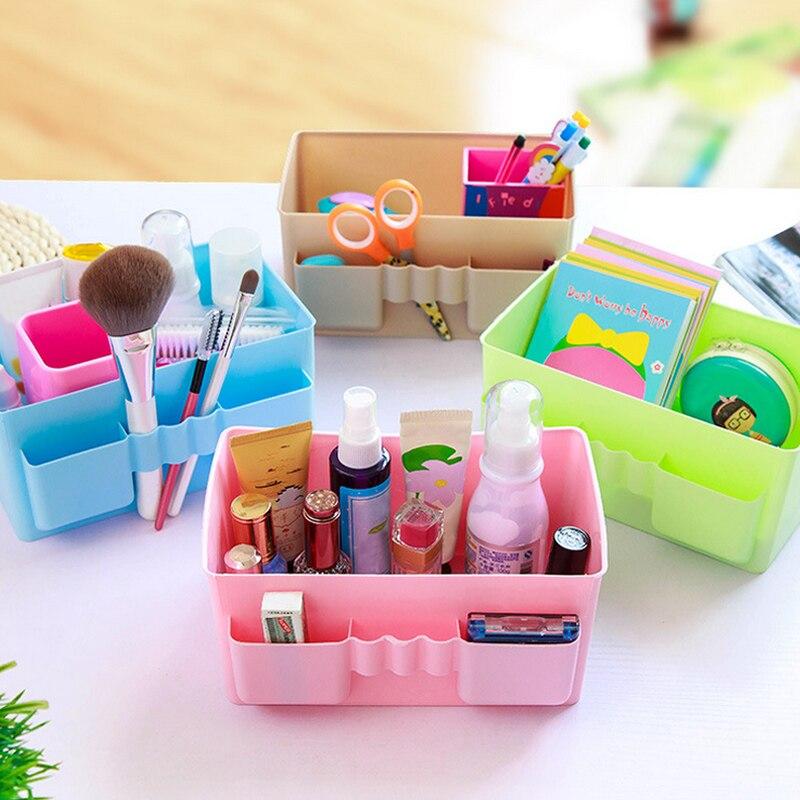 Многофункциональный Пластик коробка для хранения стол организатор стабильный игрушка органайзера коробки Organizador Дом Организации коробка ...