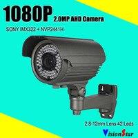 Menú osd sony imx322 ahd 1080 p 2.0mp de alta definición a prueba de agua al aire libre seguridad cctv cámara analógica