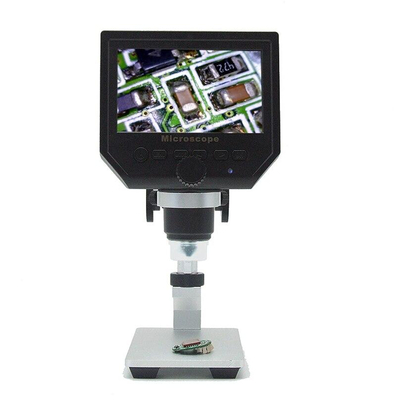 3 LCD 3inch Stent Microscope Video 600X 4 Endoscope Camera HD Microscopes 6MP Digital Magnifier USB Electronic Portable Alloy Al