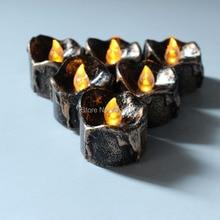 12 комплектов 12 шт./компл. батарея Led чай свет с черной основой для свадьбы дома вечерние украшения беспламенные мигающие чайные ОГНИ