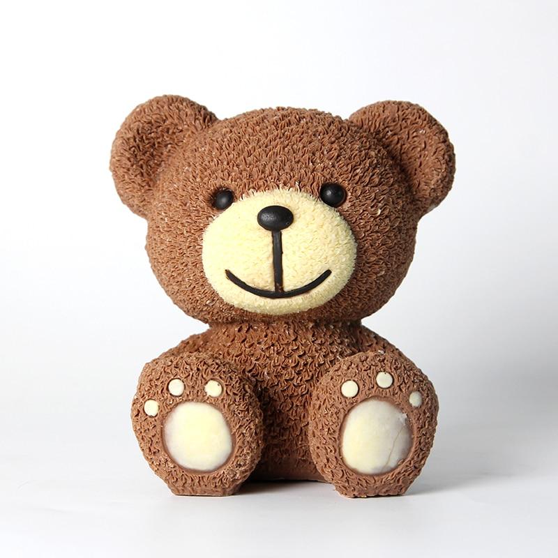 3D силиконовая форма «Медведь» для мусса, торта, мороженого, шоколада, желато ручной работы, форма для мыла свеч, ремесло, глина, инструмент дл