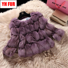 2020 New Style Fashion Lady Real Fox Fur Coat 100% Real Natural Fox Fur Short Jacket Winter Warm Soft Women Real Fox Fur Clothes