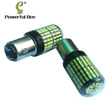 2×1157/BAY15D 35 W de potencia LED DC12-30V DE LA BICI del coche de conducción luces de freno de la motocicleta no estroboscópico frente DRL la bombilla de señal