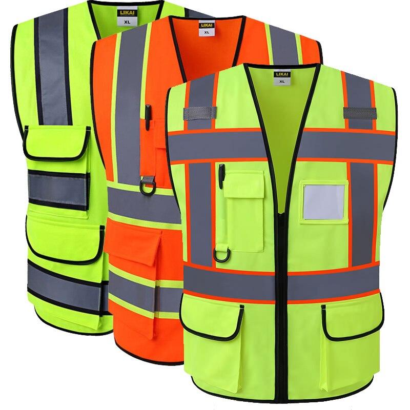 Spardwear oi vis colete workwear vestuário segurança reflexiva colete de segurança reflexivo logotipo impressão