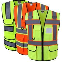 SPARDWEAR Hi vis жилет Спецодежда Одежда безопасности светоотражающий жилет безопасности светоотражающий логотип печать