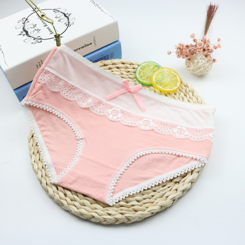 6Pcs/Lot Hot Selling Cotton Ice Cream Printed Womens Briefs Sexy Sheep Panties Ladies Briefs Dots Underwear Panties 3LH019