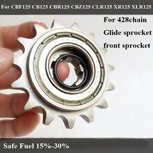16T 428 цепи Glide Передняя звездочки для HONDA CBF125 CB125 CBR125 CBZ125 XR125 XLR125 Senda125 топливный экономайзер маховик