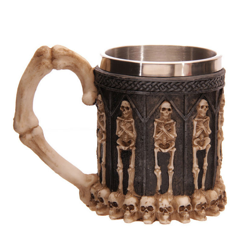 Xicara Mighty Tomb Of Lost Kings Skull Bottle Mug Coffe Large Tea Beer Cool Stuff Cup