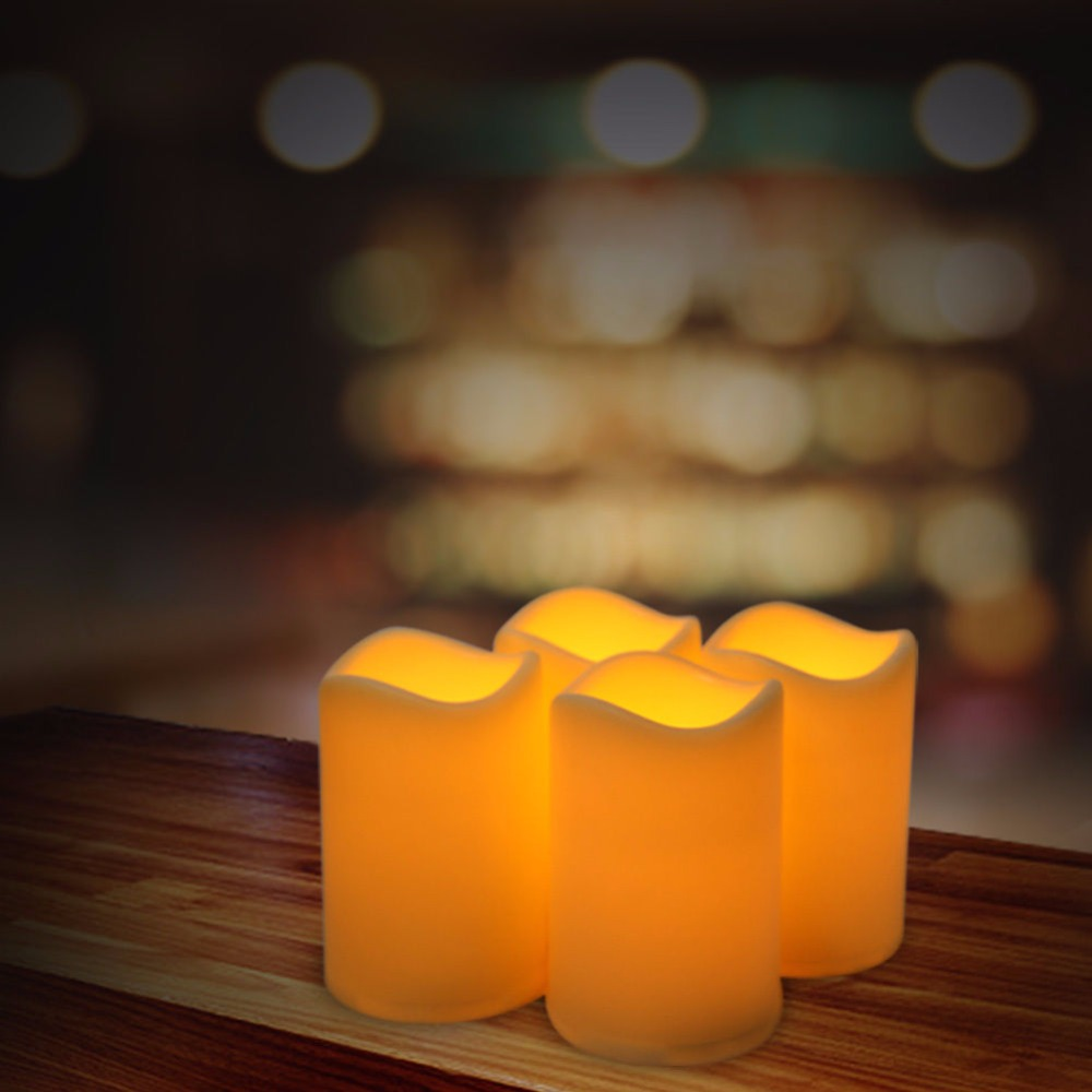 10pcs Flickering Flameless Pillar LED Candle Light w/ Timer For Wedding Party Brithday