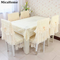 Fashion dining table cloth chair covers cushion tablecloth dining table chair cover table bundle cushion rustic lace embroidered