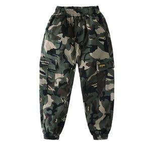 Image 2 - Hot boys summer trousers 4 15 years old Multi pocket camouflage cargo pants Leg fashion versatile boys gift cool