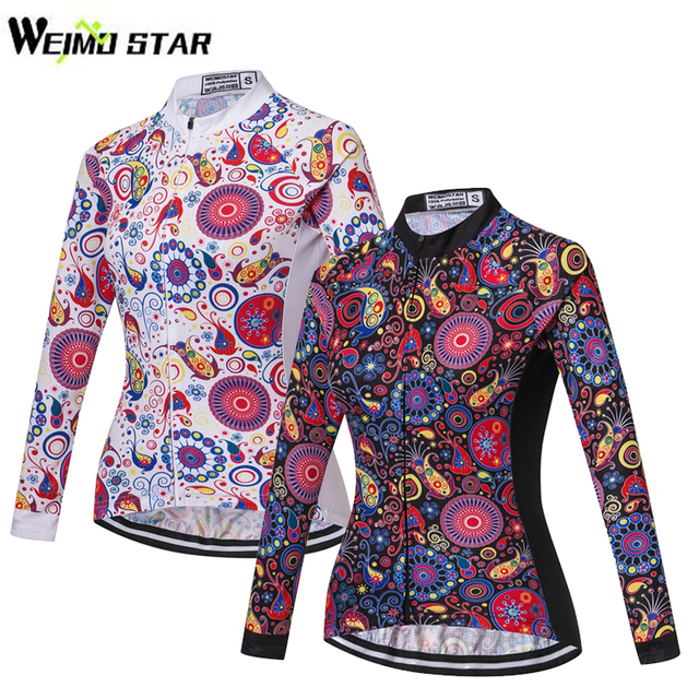 WEIMOSTAR Cycling Jersey Ropa Ciclismo Long Sleeve Breathable Womens Shirt  Bike Bicycle Wear Racing Cycling Clothing 1dec32482