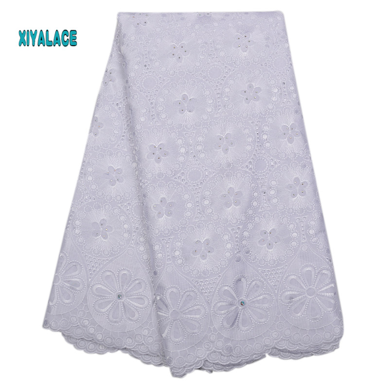 Nigerian Lace Fabrics 2019 African Swiss Voile Lace High Quality French Swiss Voile Lace In Switzerland For Wedding YA2266B-2