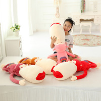 cute delicate Red Lips lying shy monkey pacify plush hold doll novelty children stuffed toy