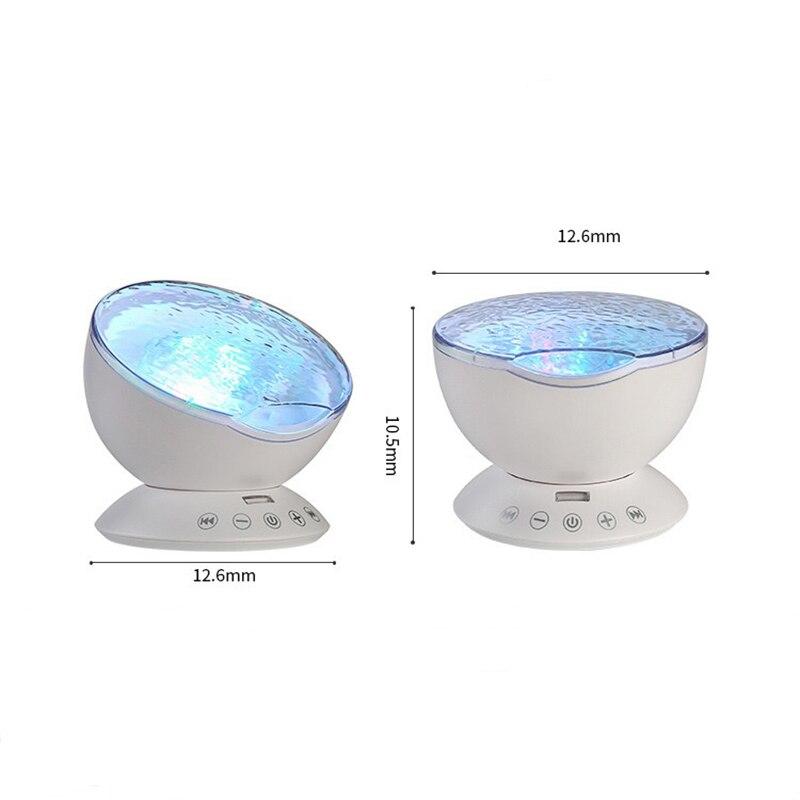 Luzes da Noite com música temporizador de controle Size : 12.6 x 12.6 x 10.5cm