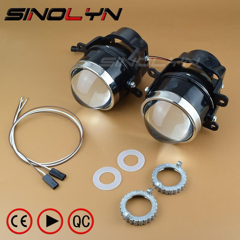 SINOLYN Newest LEADER Bixenon Projector Fog Light Lens Driving font b Lamp b font L03 with