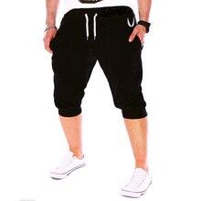 Zogaa 2019 New Fashion Men Knee Length Color Patchwork Hip Hop Joggers Sweatpants Cotton Casual Pants Summer Comfy
