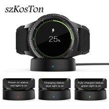 Беспроводное быстрое зарядное устройство док-станция для Samsung Gear S3 Классическая зарядная док-станция USB кабель зарядное устройство для Samsung ...