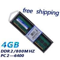 KEMBONA masaüstü DDR2 4GB 800MHZ 667MHZ PC2-6400 256x8 düşük yoğunluklu uyumlu tüm anakart Intel ve A-M-D