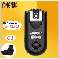 YONGNUO RF603 II RF 603II 2.4G Wireless Flash Trigger Remote C3 for Canon 1D 1DS 1DX 5D Mark II III 6D 5D 7D 50D 40D 30D 20D 10D