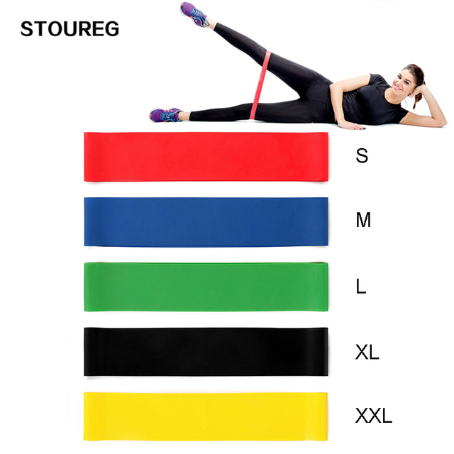 5 Levels Resistance Bands Gym Yoga Strength Training Fitness Band Elastic Rubber Resistance Loop Crossfit Exercise Equipment