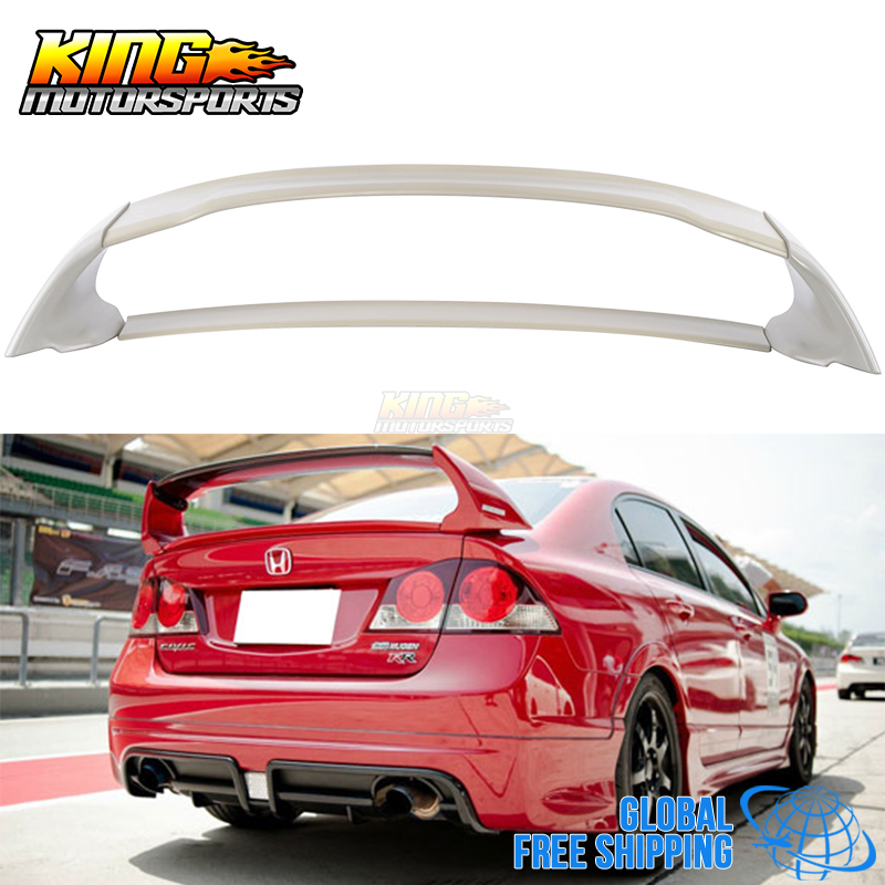 For 06-11 Honda Civic 4Door Sedan Mugen Rear Trunk Spoiler Wing ABS 06 07 08 09 Global Free Shipping Worldwide nissan 370z nismo spoiler