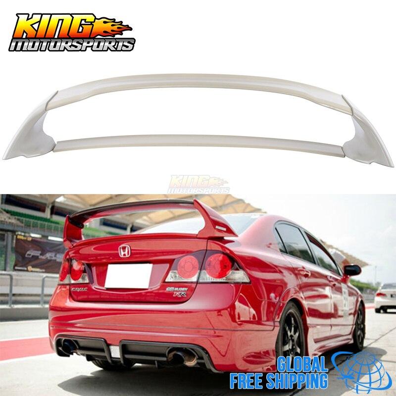 For 06 11 Honda Civic 4door Sedan Mugen Rear Trunk Spoiler Wing Abs 06 07 08 09 Global Free