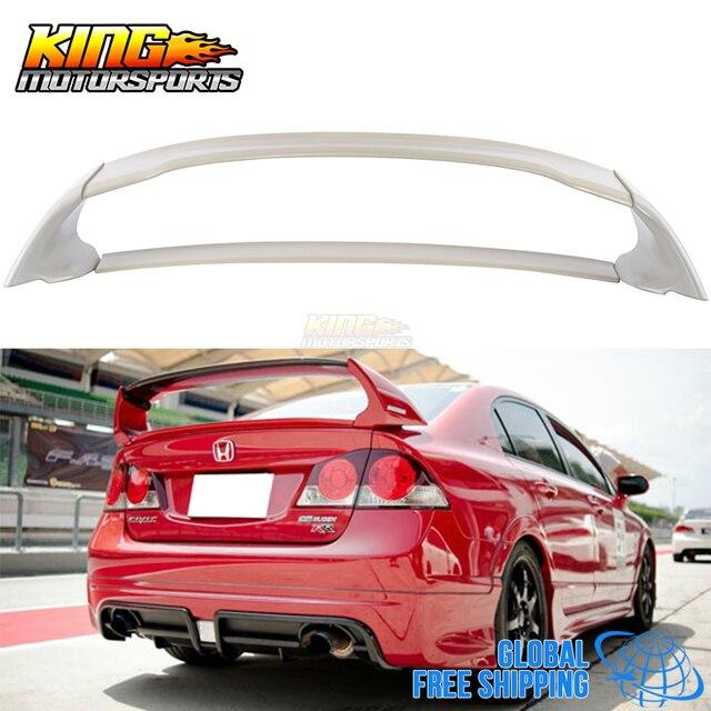 For 06 11 Honda Civic 4door Sedan Mugen Rear Trunk Spoiler Wing Abs 07 08 09 Global Free Shipping Worldwide