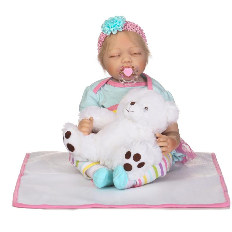 22 full silicone vinyl body reborn dolls baby reborn girl soft body best children sleeping boy gift toys brinquedos bonecas New 22 Cotton Body silicone vinyl boy girl dolls reborn babies dolls for children gift reborn baby alive boneca sleeping toys