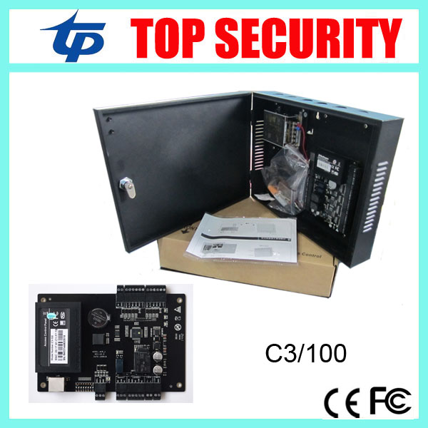 все цены на Single door TCP/IP c3-100 access control panel access control system with power supply and protect box онлайн