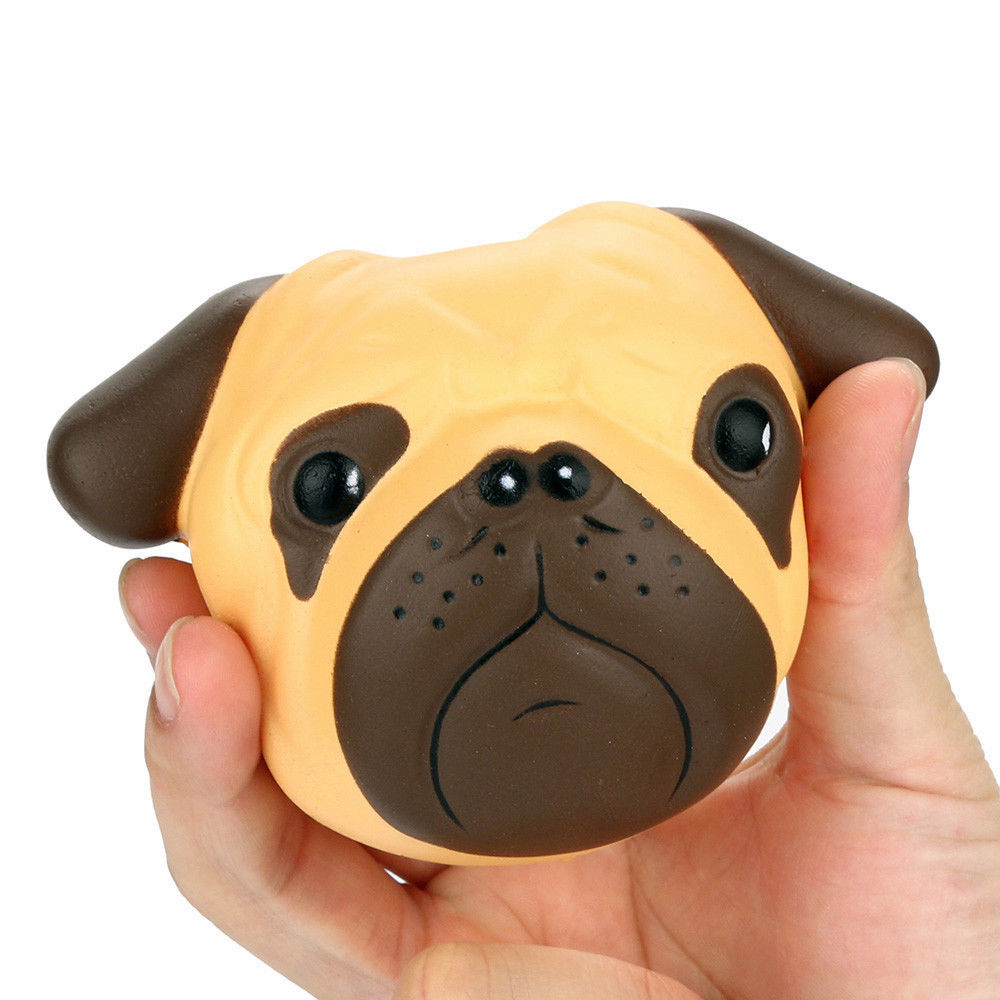 Kawaii Squishy Dog Face Bread Soft Slow Rising Phone Straps DIY Pendant Stretchy Squeeze Cream Scented Cake Kid Toy Gift P15