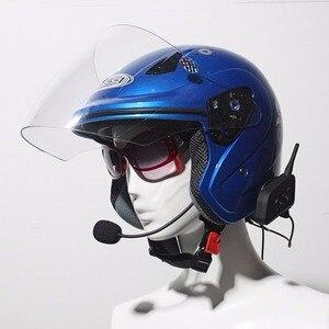 Image 4 - Intercomunicador Bluetooth V4 Pro BT impermeable, auriculares para motocicleta, casco, comunicador, 4 conductores, 1200M