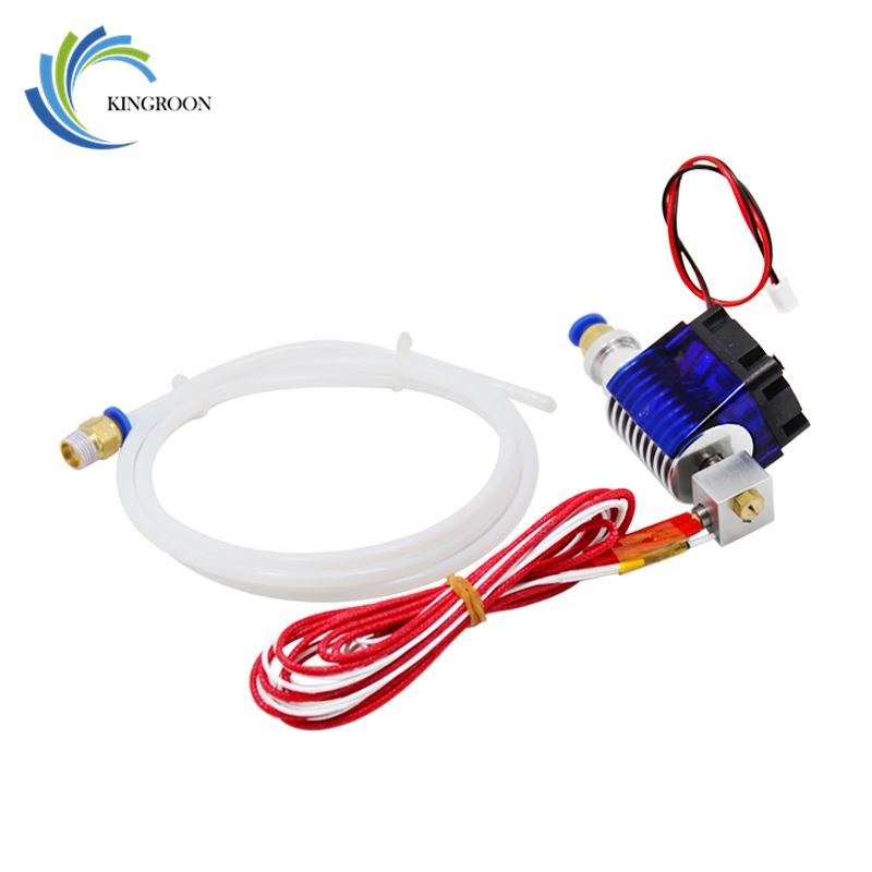 J-head Hotend Wade Hot End Extruder V5 Remote 3D Printers Parts 1.75mm 3.0mm Filament Direct Short 0.4mm Nozzle Fan Part 12V40W