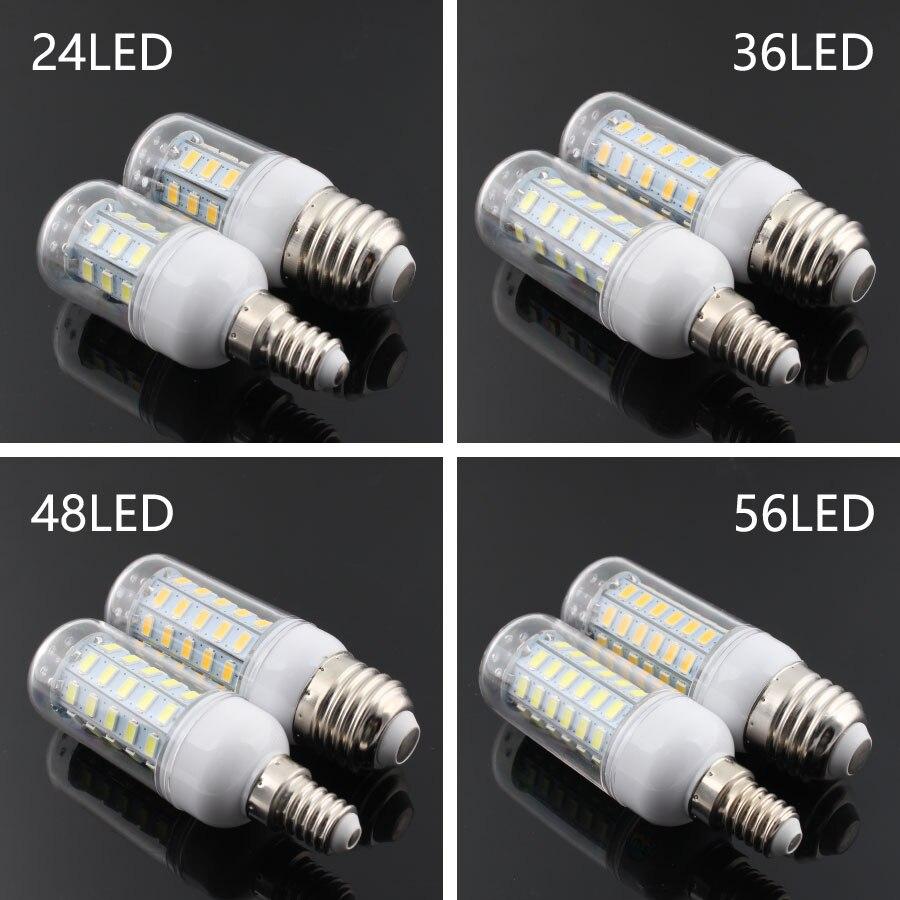 DC 220V 12V E14 SMD5730 LED Bulb 24 36 48 56 69 72 Leds Lamp 12 V E27 Smart Light Warm White Led Lamp Kitchen Lighting
