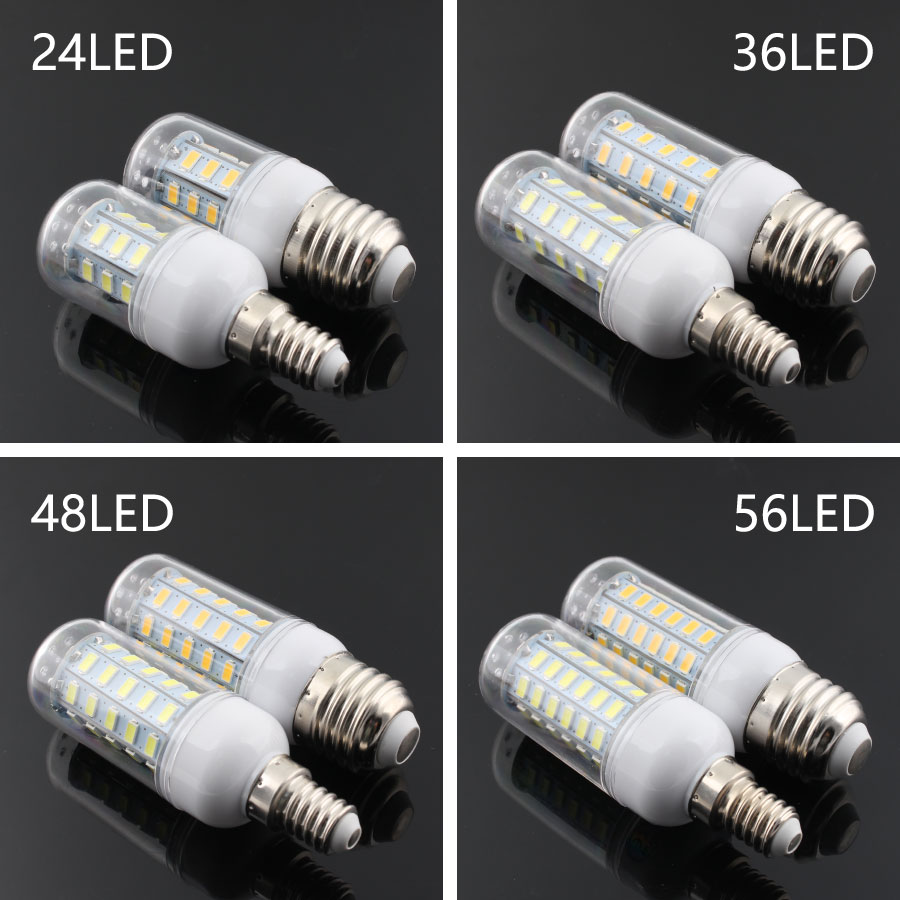 DC 220V 12V E14 SMD5730 <font><b>LED</b></font> Bulb 24 36 48 56 69 72 <font><b>leds</b></font> lamp <font><b>12</b></font> <font><b>v</b></font> E27 Smart light Warm White <font><b>led</b></font> Lamp kitchen lighting image