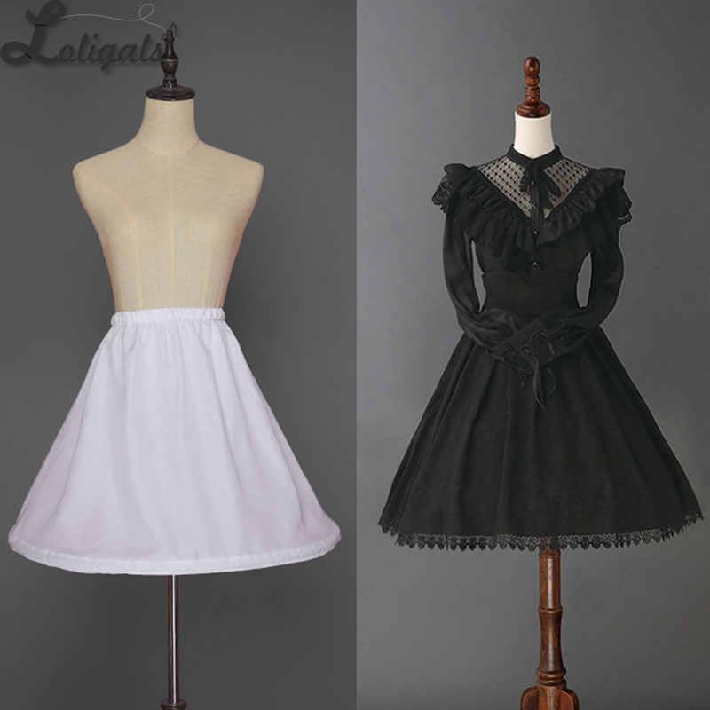 Pendek Wanita Petticoat Hoop Setengah Garis Putih Crinoline Underskirt