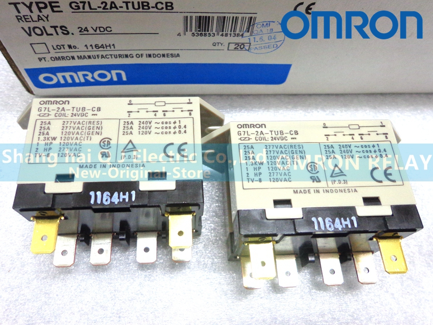 OMRON RELAY G7L-2A-TUB 24VDC G7L-2A-TUB 200-240VAC 220VAC Brand new and original relay