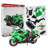 Maisto 1:12 Scale Motorcycle Model Kit Toy Ninja ZX 14R Assembly Motor Bike Building Kits Collection Toys For Boys