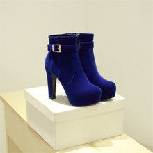 Winter ankle Boots Round pointed  platform Boot For Women Sexy Ankle Heels Fashion Shoes Casual Zip Snow winter boot shoe