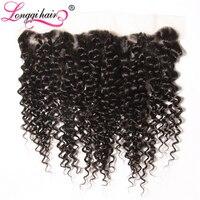 Xuchang Longqi Beauty Hair Company NonRemy Hair Brazilian Curly Lace Frontal Closure Natural Black Human Hair 10-20 Inch