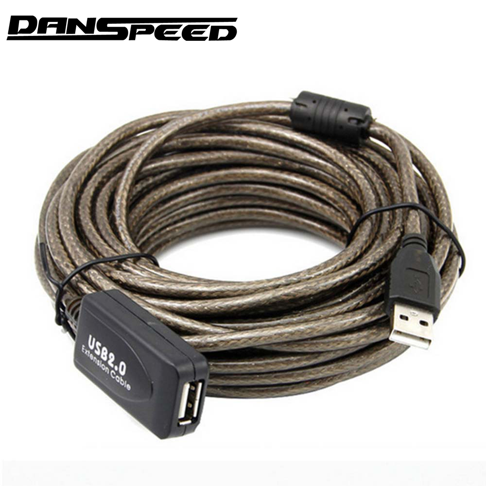 DANSPEED 30FT USB 2.0 Active Repeater Male to Female F/M Extension Cable Cord Adapter 5/10/15/20 Meter danspeed usb 2 0 extension cable male to female f m usb extension cord cable adapter usb extender 5m 10m 15m 20m free shipping
