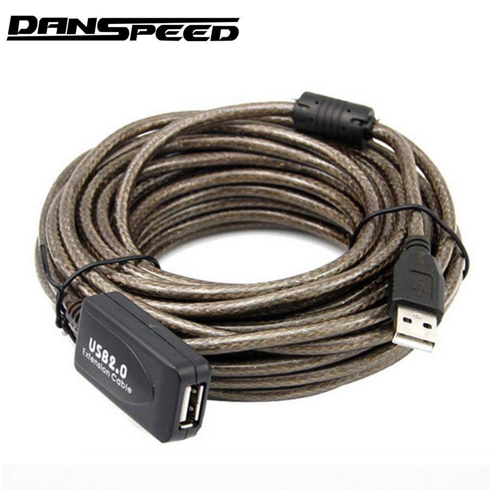 DANSPEED 30FT USB 2.0 Aktive Repeater Männlichen zu Weiblichen F/M Verlängerung Kabel Adapter 5/10/15 /20 meter