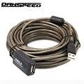 DANSPEED 30FT USB 2,0 Активный ретранслятор мужчин и женщин F/M удлинитель шнура адаптер 5/10/15/20 м - фото